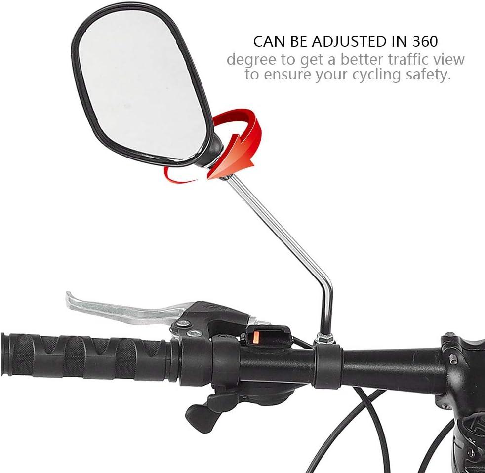 360 ° Rotate Vélo Bicyclette Cyclisme côté vue arrière guidon Best Rétroviseur