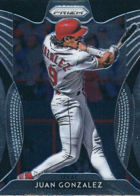 2019 Panini Prizm #205 Juan Gonzalez Tier III Tarjeta de béisbol de los Rangers de Texas