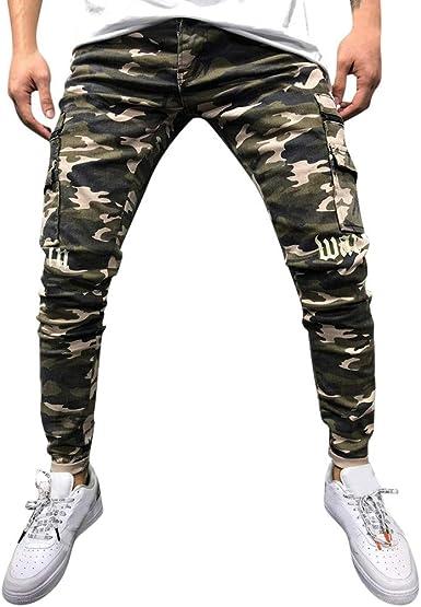 MXJEEIO💖Pantalones Chandals Hombre, Pantalón Moda de Camuflaje ...
