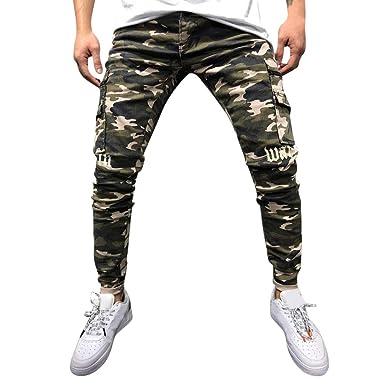 MXJEEIO💖Pantalones Chandals Hombre, Pantalón Moda de ...
