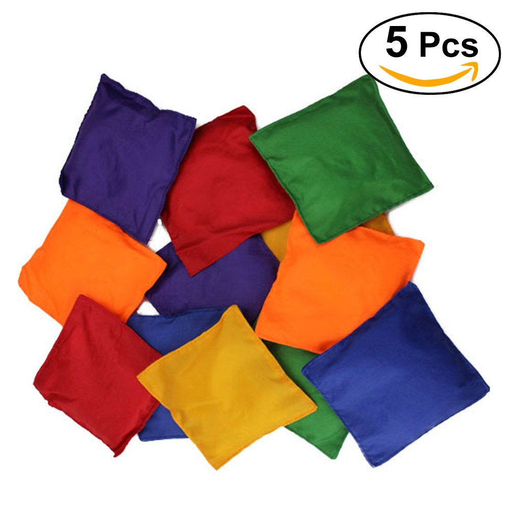 TOYMYTOY Sacchetti sabbia per gioco di bambini Giocattolo per bambini colorati (5pcs)