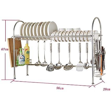 estante de cocina   Microondas Horno Estante Cocina Acero inoxidable  Escurreplatos Estante Organizador Estante con Bandeja b96a74bfc260
