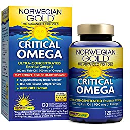 Renew Life Ng Critical Omega Fish Gels, 120 Count