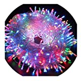 Indoor/Outdoor LED String Light with 8 Flash Changing Modes Fairy Twinkle Decorative Light for Party, Wedding, Chirstmas Tree, Patio, Garden and Home Decoration + Controller(33ft 100LEDs Multi-Color)