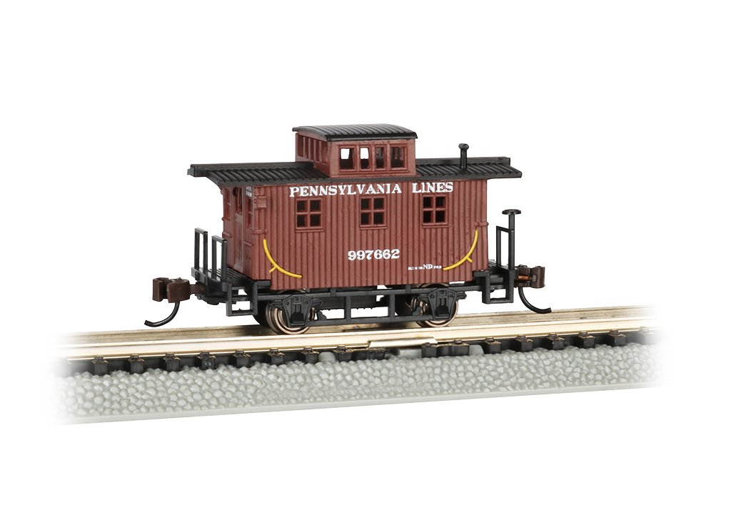 Bachmann Old-Time Caboose - Pennsylvania Lines - N Scale, Prototypical Brown by Bachmann Trains (Image #1)