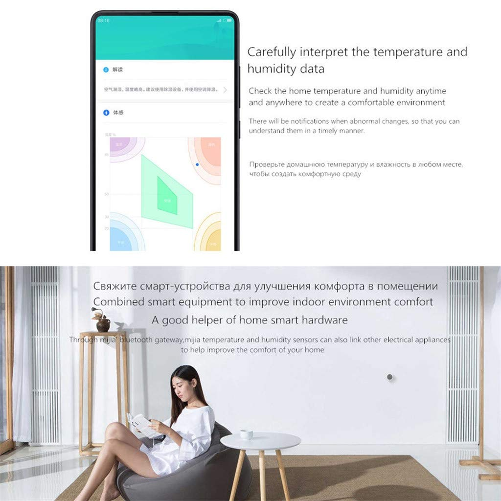 AutumnFall Connected Thermometer Hygrometer Smartphone Tablet or Computer Control Humidifier White