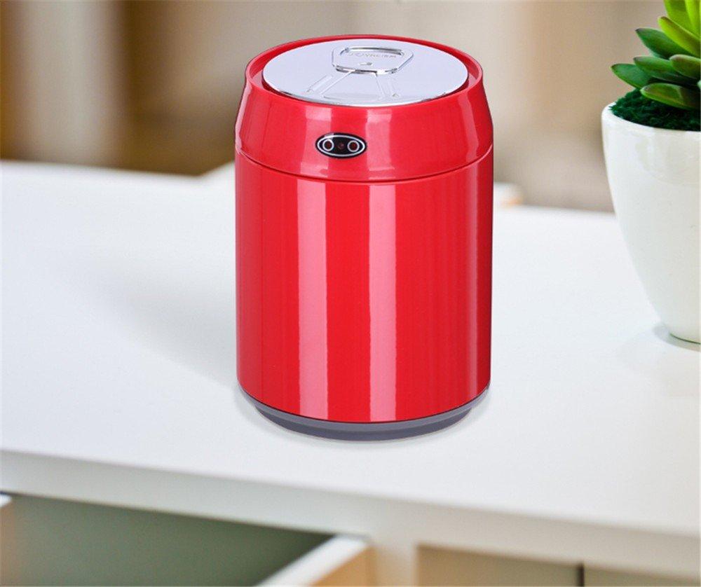QIYUEQI 12 cylindriques en acier inoxydable 4*21cm Rouge respectueuse de l'environnement et faciles à nettoyer car trash & seau