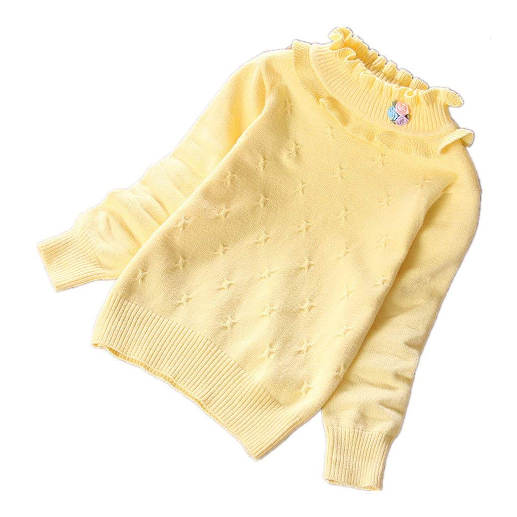 LYLIFE Girls Sweaters Cotton Pullovers Kids Cotton Sweater