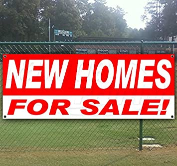 Flag, Store Many Sizes Available New Advertising New Homes for Sale Extra Large 13 oz Heavy Duty Vinyl Banner Sign with Metal Grommets