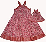 Doll Clothes Super store Matching Girl And Doll Pink Fashionable Sundress Size 7