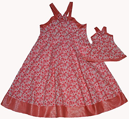 Matching Girl And Doll Pink Fashionable Sundress Size 8