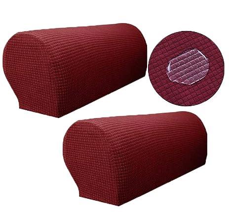 Zuodu Spandex - Juego de 2 Protectores para sillones Antideslizantes para sofá
