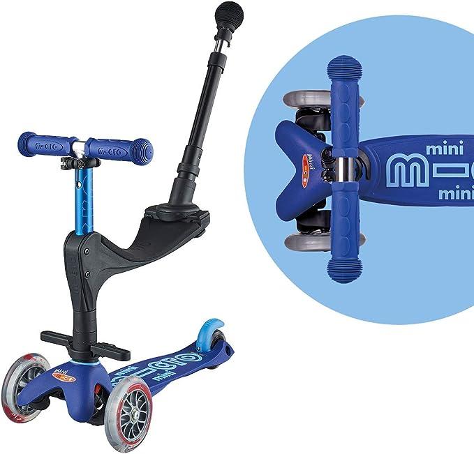 Mini Deluxe 3-Wheeled Micro Kickboard Swiss-Designed Micro Sco Lean-To-Steer