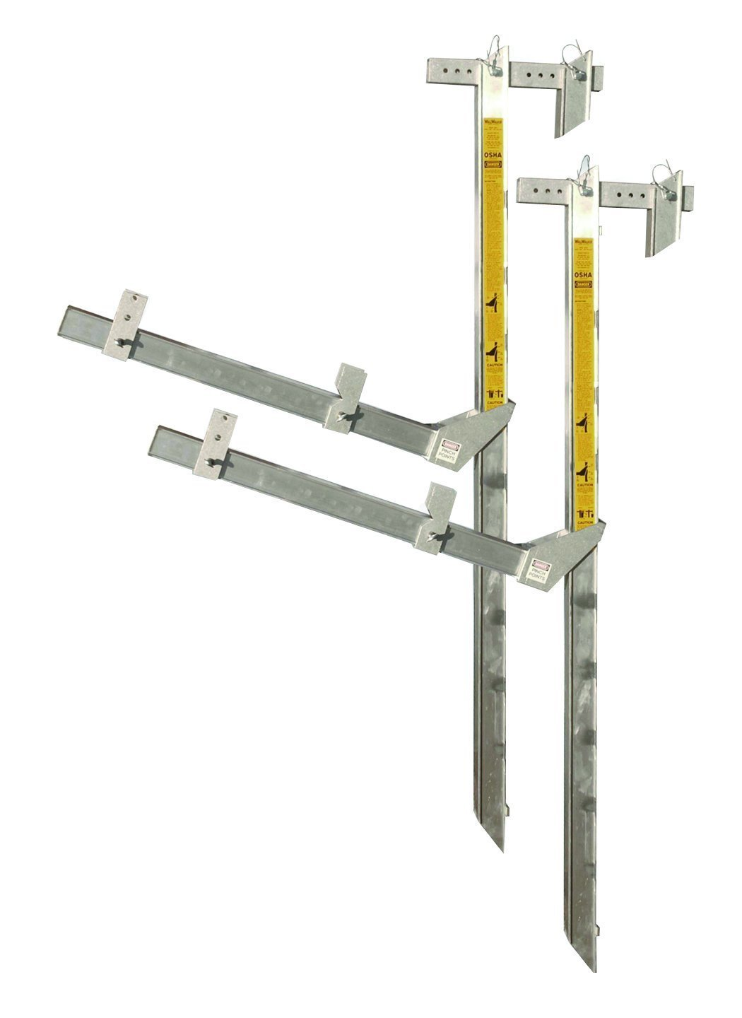 WallWalker 8 Foot Top-Plate Bracket Scaffold Set Aluminum(Pack of 2)