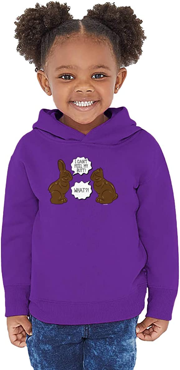 What? Bunnies Toddler//Youth Fleece Hoodie I Cant Feel My Butt