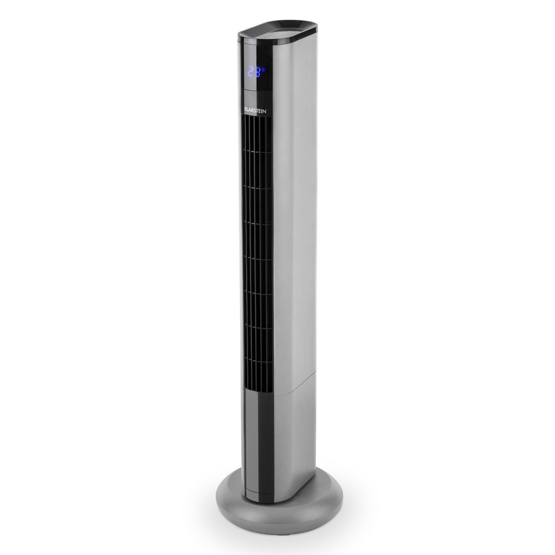 Klarstein Skyscraper 3G 2019 Edition /• Turmventilator /• S/äulenventilator /• 50 Watt Leistungsaufnahme /• 3 Geschwindigkeitsstufen /• 90/° Oszillation /• Touch-Bedienfeld /• Autoabschaltung /• Timer /• wei/ß