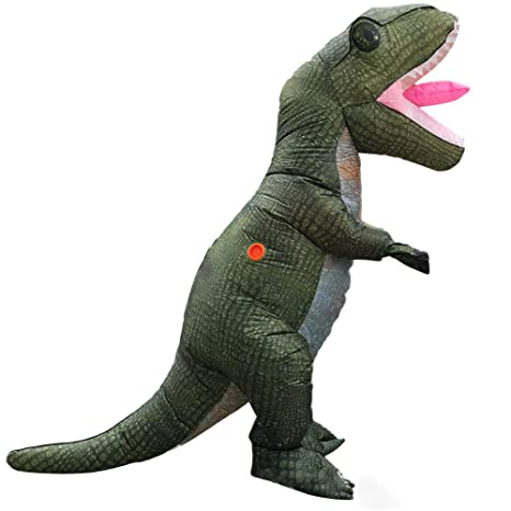 Asitlf Disfraz de Dinosaurio Inflable Esqueleto Gigante ...