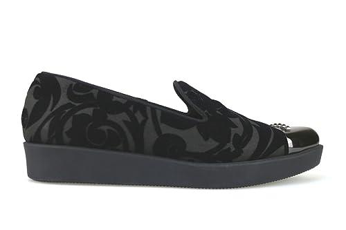 Jeannot - Mocasines de Ante para Mujer Negro Negro Negro Size: 37 EU: Amazon.es: Zapatos y complementos