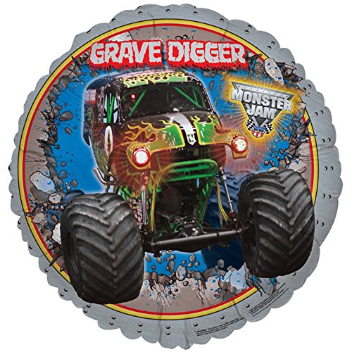 BirthdayExpress Monster Jam 3D Foil Balloons (2) - Grave Digger Birthday