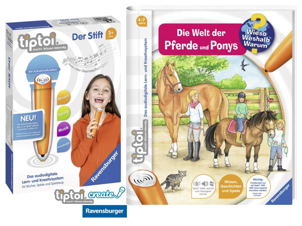 Tiptoi Ravensburger Buch Band 13 | Die Welt Welt Die der Pferde und Ponys + Ravensburger 007004 Stift Player d68faf