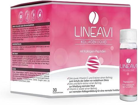 LINEAVI Colágeno Líquido, colágeno para beber, con péptidos de ...