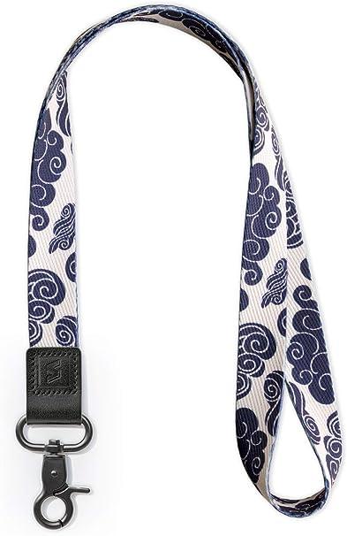 Chiavi etc Porta badge Fotocamera SENLLY Staccabile Cordino Laccio da Collo Neck Lanyard Strap con Vera Pelle per Telefono Mobile Cellulare