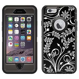 OtterBox Defender Apple iPhone 6 Plus Case - Twigs Flowers White on Black OtterBox Case
