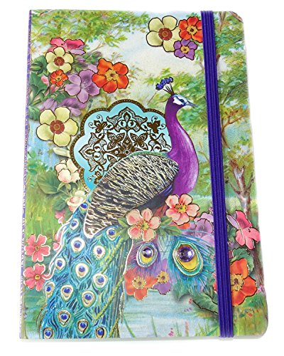 Punch Studio Peacock Journal Soft Cover Bungee