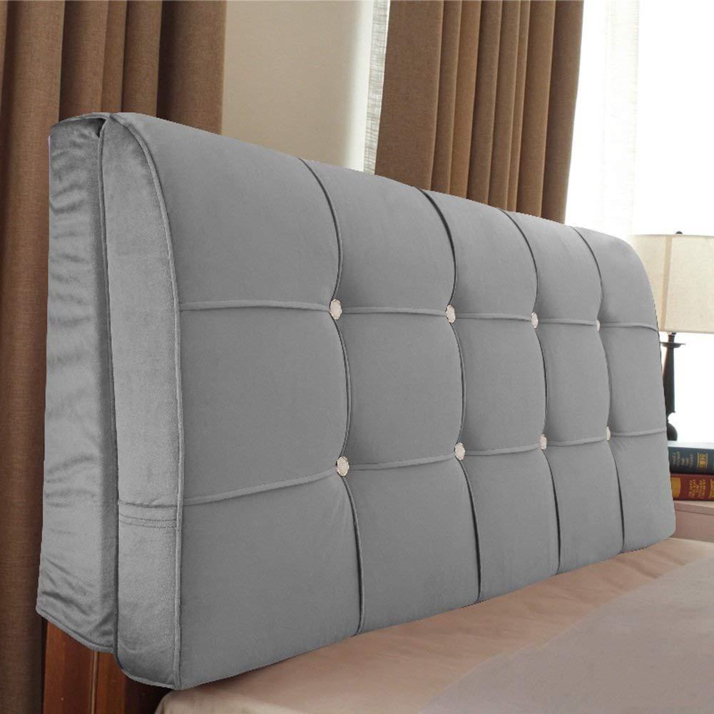 ベッドサイドクッションベッドクッション枕ベッド枕大背もたれクッションダブルウエストクッション畳ベッド布厚さソフトパック取り外し可能および洗える、ヘッドボード付き/ヘッドボードなし、5色、複数のサイズ (色 : 1#, サイズ さいず : With headboard-160cm) B07S3ZLLH4 1# With headboard-160cm
