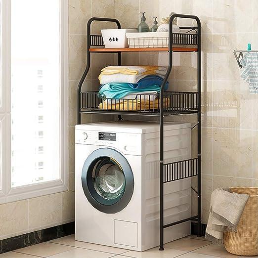 Rack de almacenamiento de 2 capas sobre lavadora - Repisa de baño ...
