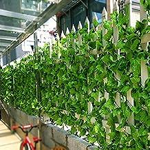 82ft Artificial Grape Ivy vine Faux Leaf Garland Plants Fake Foliage Green Decor