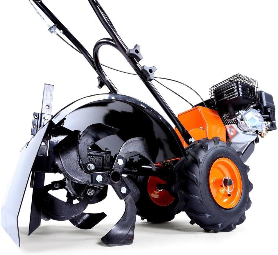 Fuxtec – FX-AF200 Fresadora de jardín a gas, máquina agrícola para arar el cultivo, con ruedas, 196cm^3, 4,8kW/6,5ps