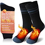 Winter Thermal Socks for Men Women JPGO Thick Insulated Heated Warm Fuzzy Crew Socks for Extreme Cold Weather