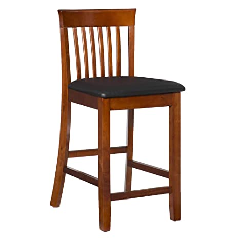 Outstanding Linon Triena Dark Cherry 24 Inch Counter Stool Frankydiablos Diy Chair Ideas Frankydiabloscom