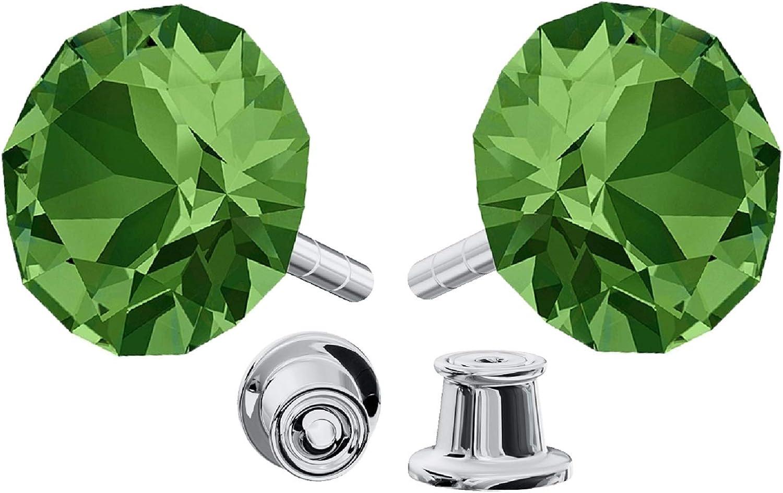 Crystals & Stones. Pendientes con cristales Swarovski ® Xirius pin/75, plata de ley 925, muchos colores. Preciosos pendientes con caja de regalo.