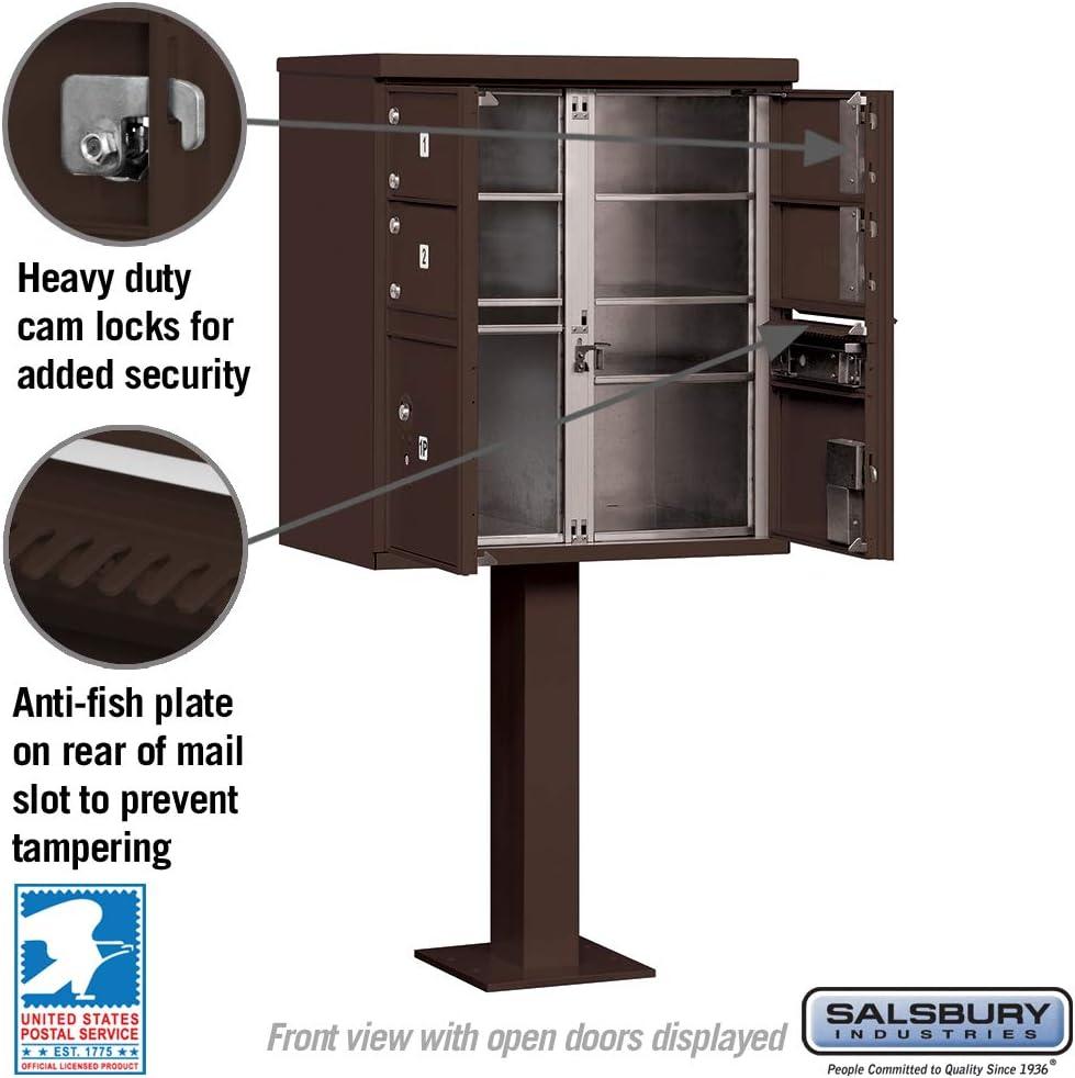 Salsbury Industries 3306BRZ-U 8 A Size Doors-Type VI-USPS Access Cluster Box Unit Bronze