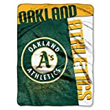 "MLB Oakland Athletics Strike Plush Raschel Throw, 60"" x 80"""