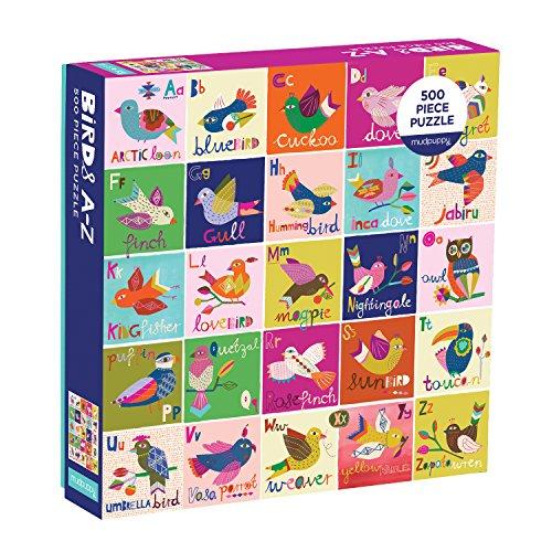 Mudpuppy Birds A to Z Family Jigsaw Puzzle
