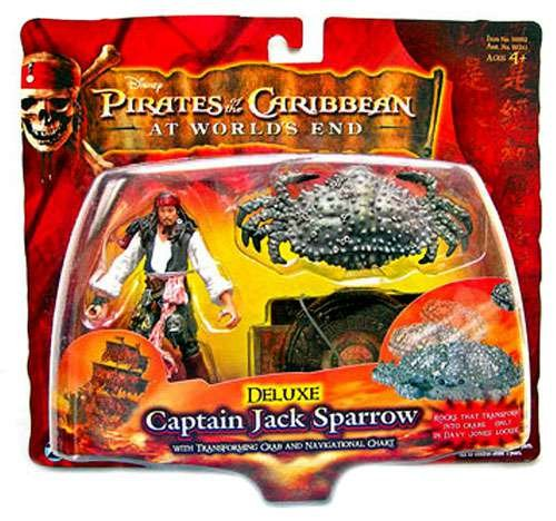Pirates Of The Carribean 3: Jack Sparrow with Transforming Crab & Navigational Chart Captain Jack Sparrow Based