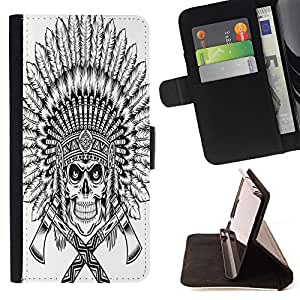 King Case - FOR Samsung Galaxy S5 V SM-G900 - Faith can move mountains - Prima caja de la PU billetera de cuero con ranuras para tarjetas, efectivo Compartimiento desmontable y correa para la mu?eca