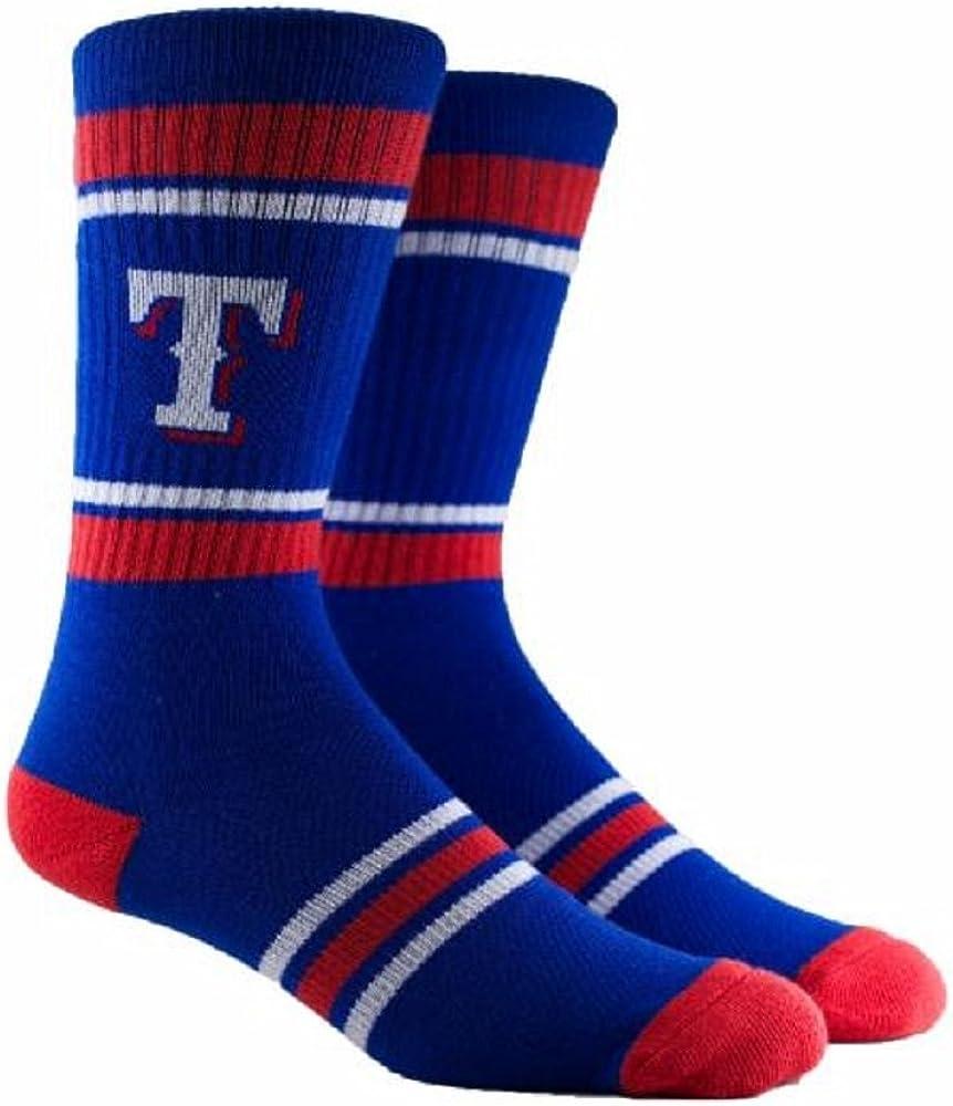 PKWY Unisex 1-Pack Texas Rangers Crew Socks