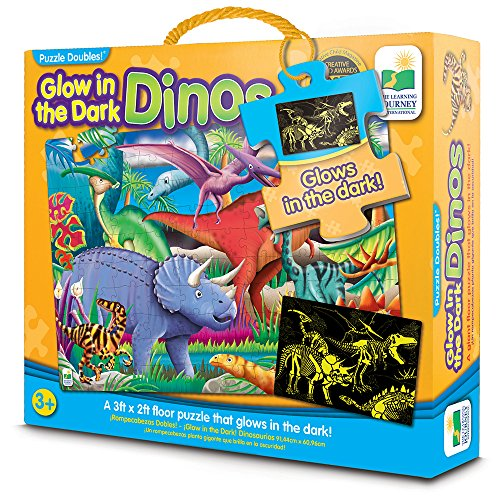 Glow in The Dark - Dino - Puzzle and Dinosaur Activity in One