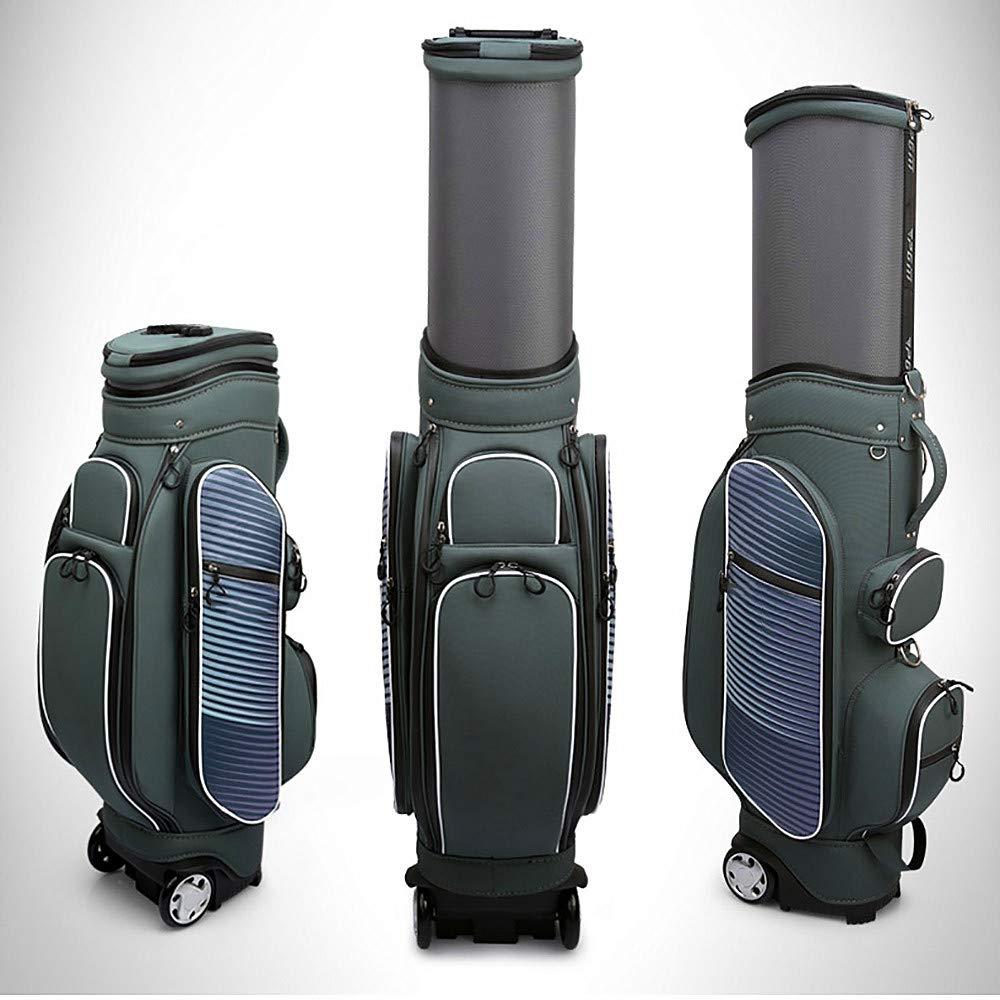 ゴルフカートバッグ、360°防水ファブリック、3.9 インチの増粘プーリー、多機能伸縮ボールキャップ、フェアウェイゴルフスタンドバッグ  Bronze B07PW553KG