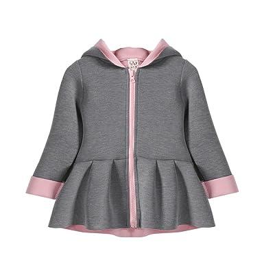 9edf15f37e02 Amazon.com  Bokeley Kid Outwear Girl Autumn Winter Waistcoat Rabbit ...