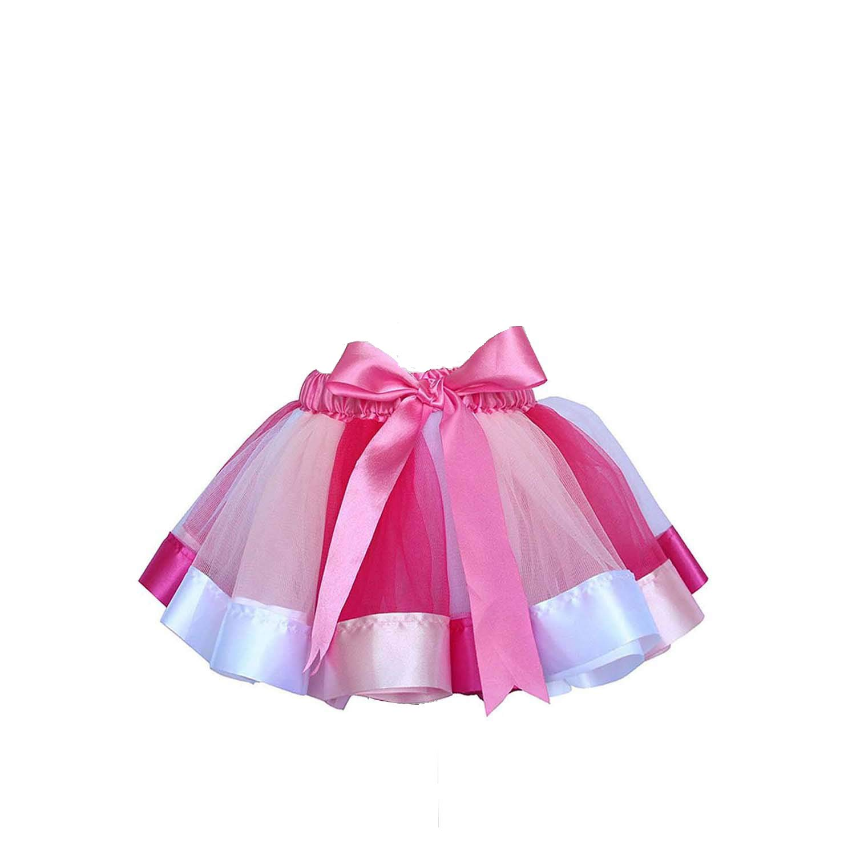 Canvalite Rainbow Tutu Skirt, Girl Ballet Skirt with Unicorn Headband for Party