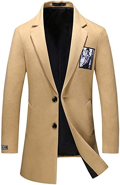Palarn Hooded Pullover Fashion Mens Autumn Winter Casual Gold Print Button Jacket Long Sleeve Coat Top