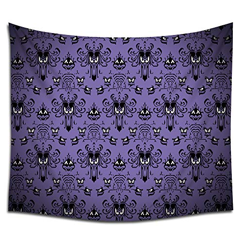 Jacoci Haunted Mansion Happy Halloween Design Wall Tapestry