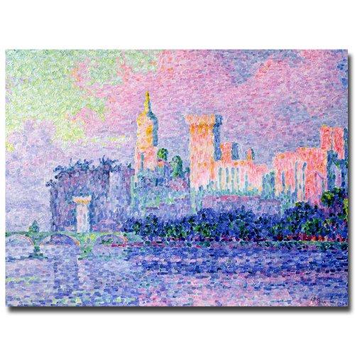 Chateau de Papes Avignon 1900 by Paul Signac, 35 by 47-Inch Canvas Madden Art
