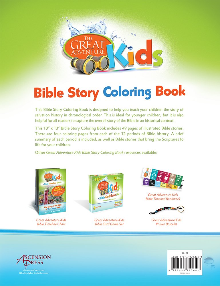 The Great Adventure Kids Bible Story Coloring Book Lets Journey Through Adventures Emily Cavins Eileen McCook