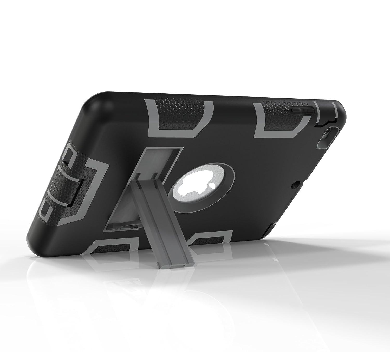 Funda iPad Mini 3 H/íbrido Tres Capas PC Silicona Carcasa a Prueba de Golpes Kickstand Robusto Defender Cover Case para Apple iPad Mini 1 2 3 Tablet Aqua//Gris TianTa Funda iPad Mini 2